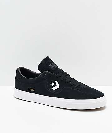 Converse Louie Lopez Pro Black & White Skate Shoes
