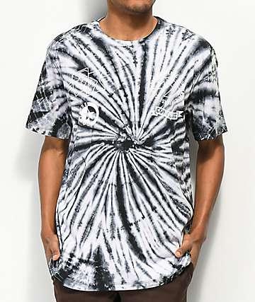 Converse Multi-Graphic Black & White Tie Dye T-Shirt