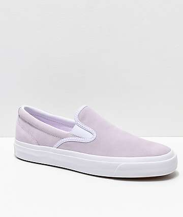 Converse One Star CC Slip-On Barely Grape & White Skate Shoes