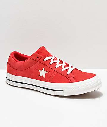 Converse One Star Cherry zapatos de skate rojos