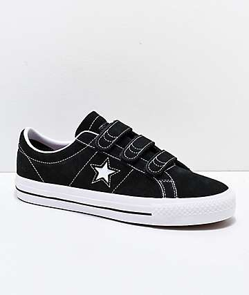 84881149c4472 Converse One Star Pro 3V Black   White Skate Shoes