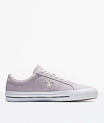 Converse One Star Pro Barely Grape & White Shoes