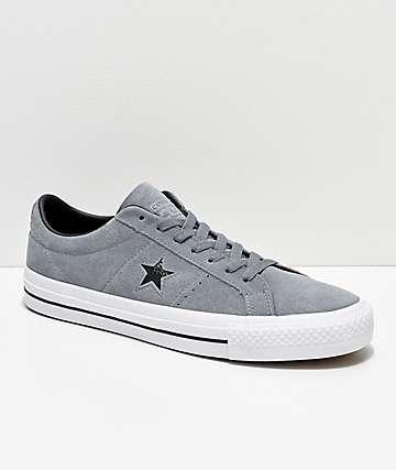 Converse One Star Pro zapatos de skate en gris y blanco