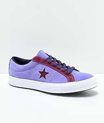 Converse One Star zapatos skate en morado y blanco