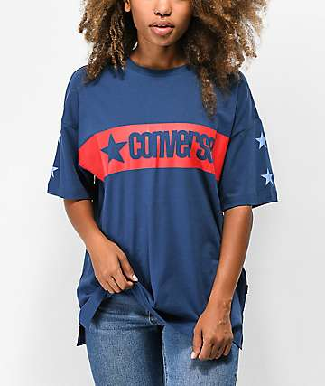 Converse Retro Star Navy Boxy T-Shirt
