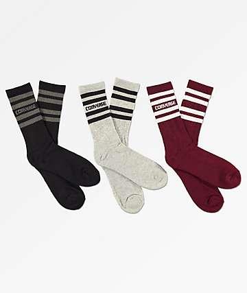 Converse Retro paquete de 3 calcetines de rayas