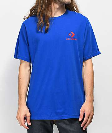 Converse Star Chevron Blue T-Shirt