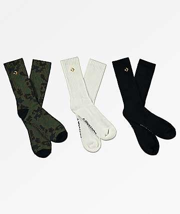 1dc933d1228031 Converse Star Three Pack Crew Socks
