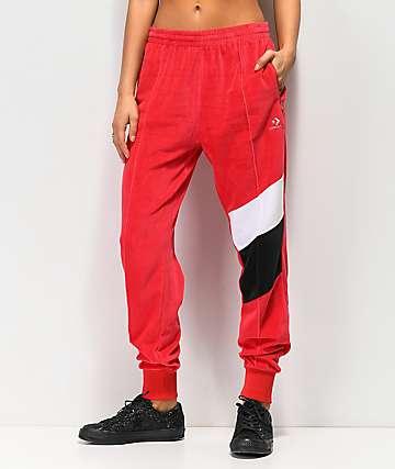 Converse pantalones de chándal en rojo, negro y blanco