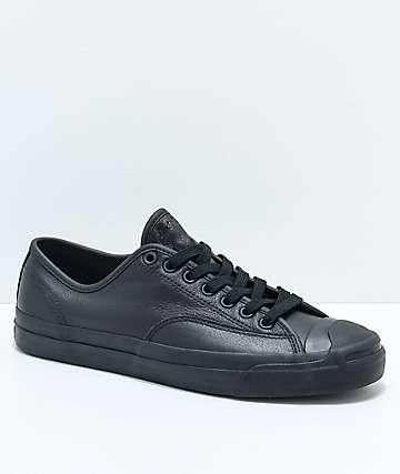 Converse x GX1000 Jack Purcell Pro zapatos de skate de cuero negro