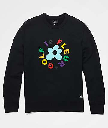 Converse x Golf Wang Le Fleur Black Crew Neck Sweatshirt