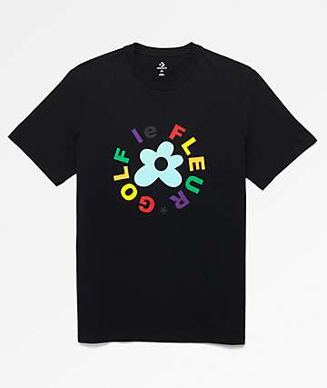 Converse x Golf Wang Le Fleur Black T-Shirt