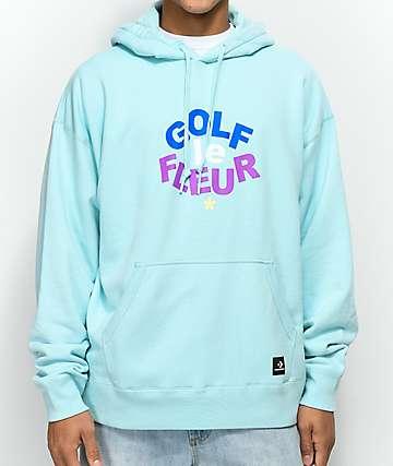 Converse x Golf Wang Le Fleur Clearwater Blue Hoodie