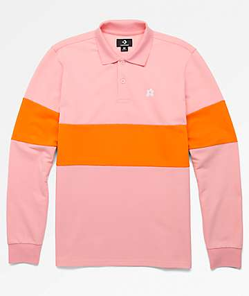 Converse x Golf Wang Le Fleur Pink Long Sleeve Polo Shirt