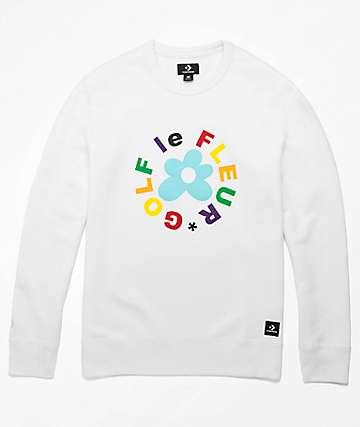 Converse x Golf Wang Le Fleur White Crew Neck Sweatshirt