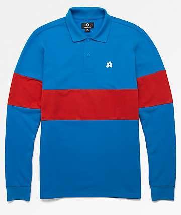 Converse x Golf Wang Le Fleur camiseta polo azul de manga larga