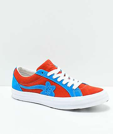 Converse x Golf Wang One Star Le Fleur Lava & Diva Blue Skate Shoes