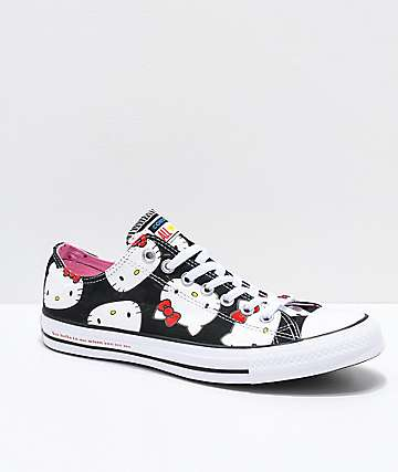 Converse x Hello Kitty Chuck Taylor zapatos negros y blancos