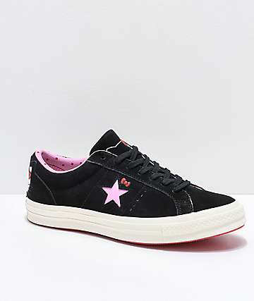 Converse x Hello Kitty One Star Black & White Skate Shoes