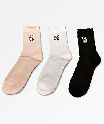 Converse x Miley Cyrus 3 Pack Mixed Mid Socks