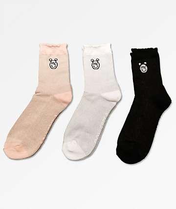 Converse x Miley Cyrus 3 Pack calcetines mezclados de talle medio