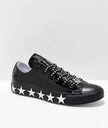Converse x Miley Cyrus CTAS Black Patent Leather Shoes
