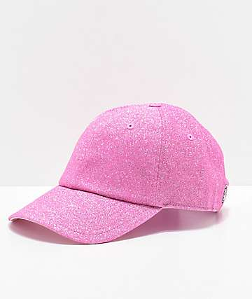 Converse x Miley Cyrus Pink Glitter Strapback Hat