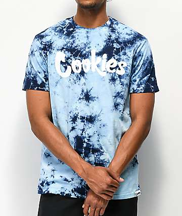 Cookies Blue Sky Navy & Light Blue Tie Dye T-Shirt