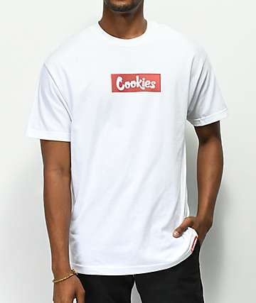 Cookies Cartegena Logo Box White T-Shirt