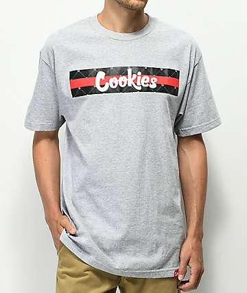 Cookies Cartegena Logo Stripe camiseta gris