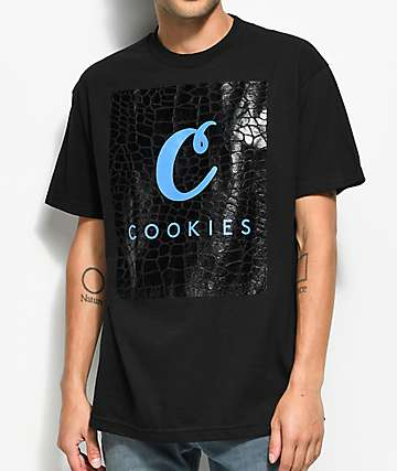 Cookies Croc camiseta negra