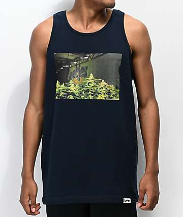 Cookies Headshot Navy Blue Tank Top