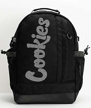 Cookies Mesh Overlay Black Backpack