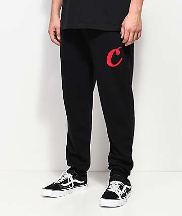 Cookies Rugby Division Black & Grey Sweatpants