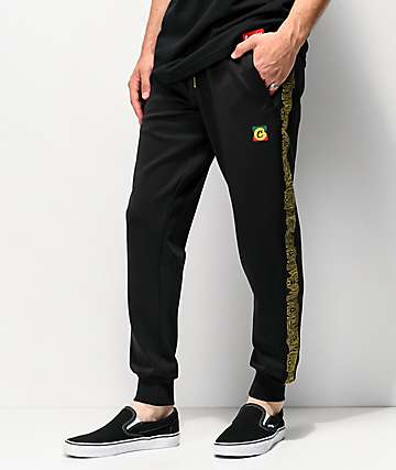 Cookies Sol Poly Embroidered Black Sweatpants