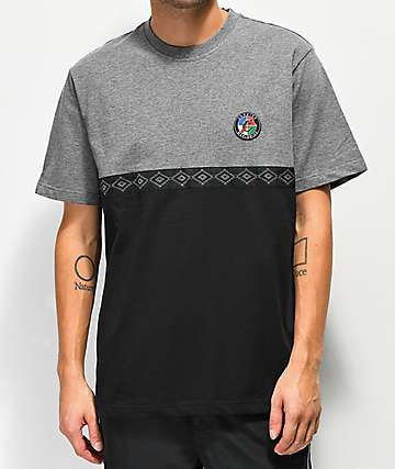 Cookies Tahoe Pieced Black & Grey Knit T-Shirt