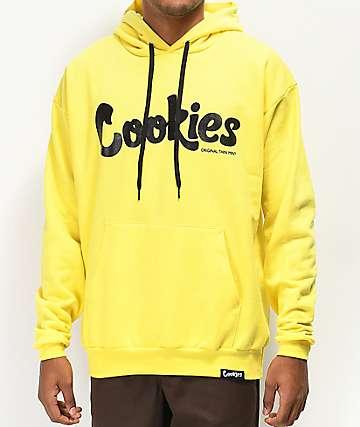 Cookies Thin Mint sudadera con capucha de amarilla