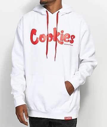 Cookies Thin Mint sudadera roja y blanca con capucha