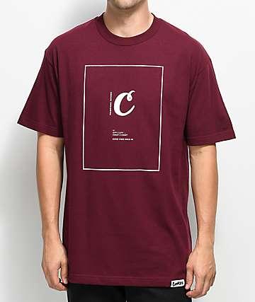 Cookies We C U camiseta en color borgoño