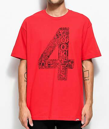 Cookies x 4 Hunnid camiseta roja