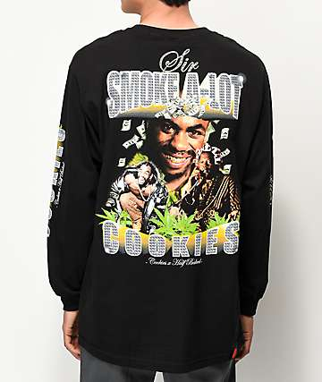 Cookies x Half Baked Sir Smoke A-Lot Black Long Sleeve T-Shirt