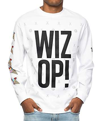 Cookies x Wizop Stacked Wizop Long Sleeve White T-Shirt