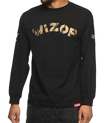 Cookies x Wizop Tiger Wizop camiseta negra de manga larga
