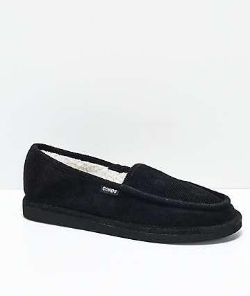 Cords Draper Black Slippers