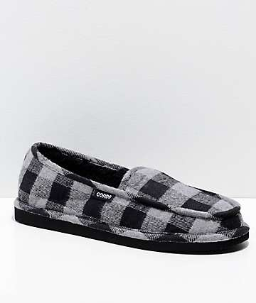 Cords Draper GPD Grey & Black Slippers