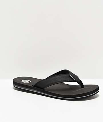 Cords Quarter Black Sandals
