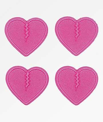 Crab Grab Mini Hearts Pink Stomp Pads