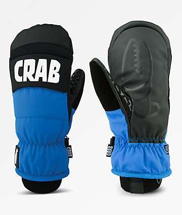 Crab Grab Punch Black & Blue Snowboard Mittens
