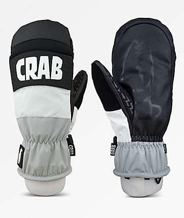 Crab Grab Punch guantes de snowboard en gris y blanco