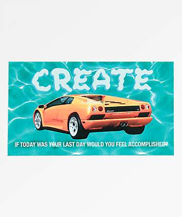 Create Lambo Water Sticker